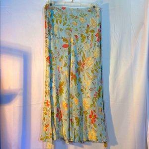 Lands End Women's Floral Patterned Skirt